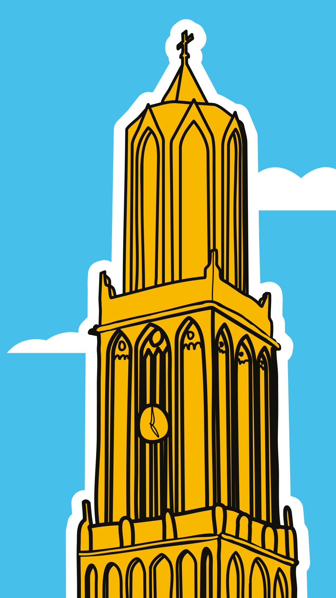 Muurtekening-Utrecht-Skyline-jacco-de-jager