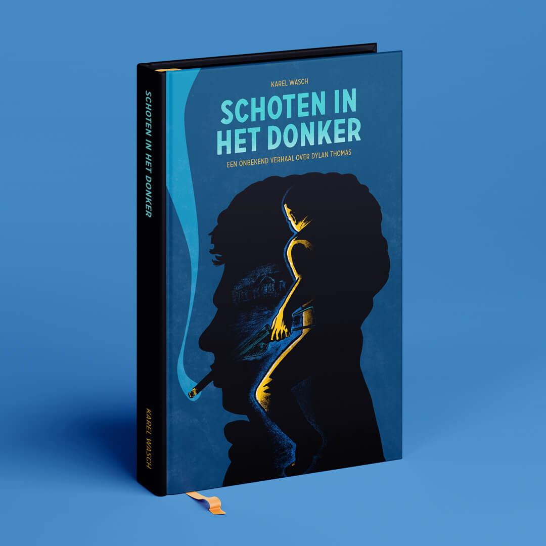 Van schrijver Karel Wasch kreeg ik begin dit jaar de opdracht om illustraties te maken voor in zijn boek. Hierin wordt een waargebeurd verhaal beschreven waarin de beroemde dichter Dylan Thomas